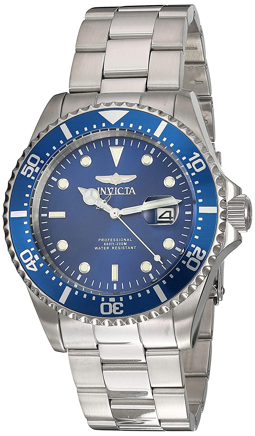 Invicta Men s Pro Diver Quartz Diving Watch with Stainless-Steel Strap, Silver, 22 Model 22019