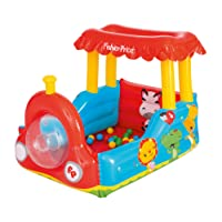 Bestway Fisher-Price Children's Inflatable Train Ball Pit, Includes 25 Balls, Age 2 to 18 Years