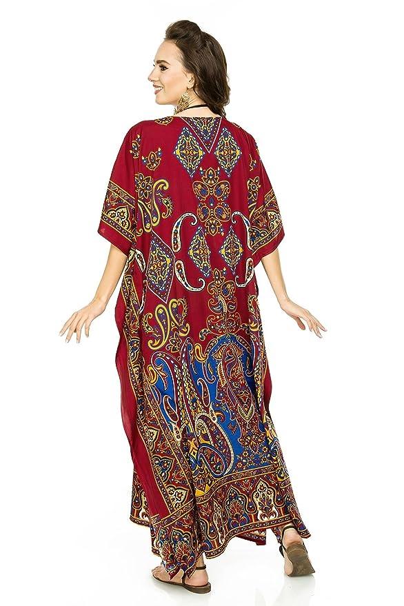 Looking Glam Mujer Muy Grande Maxi Kimono Túnica Kaftán Vestido Kaftán tamaño Libre: Amazon.es: Ropa y accesorios