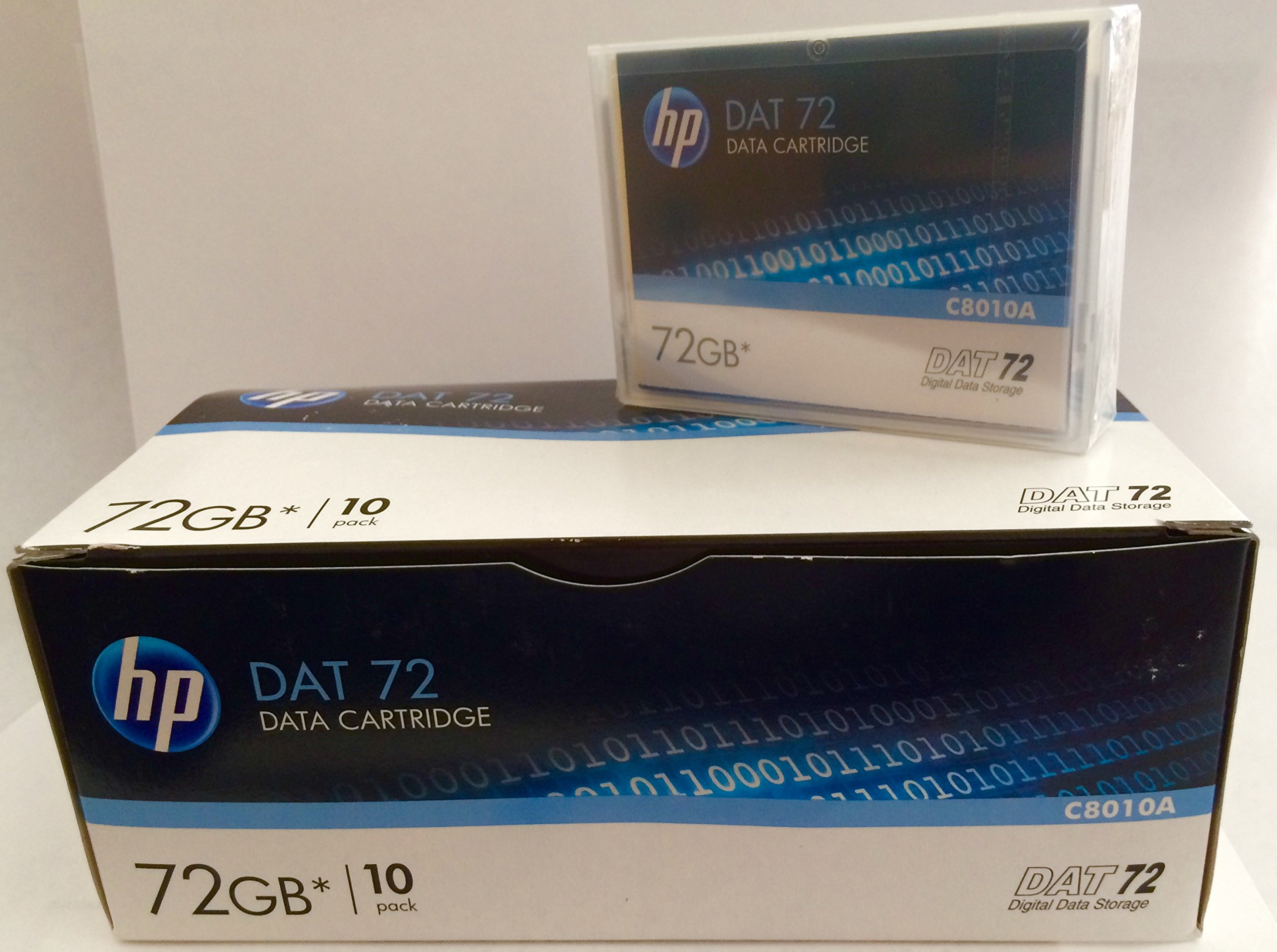 10 Pack HP C8010A DAT72 4/170 DDS5 Media 36/72GB(NEW) by hp
