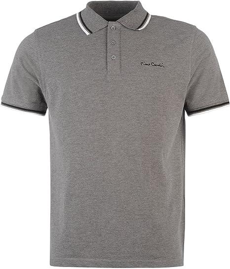 Pierre Cardin Tipped Polo Camiseta para Hombre Gris Marl Top Camiseta tee: Amazon.es: Deportes y aire libre