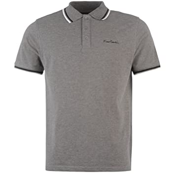 Polos Pierre Cardin gris anthracite homme QENv7KFpe2