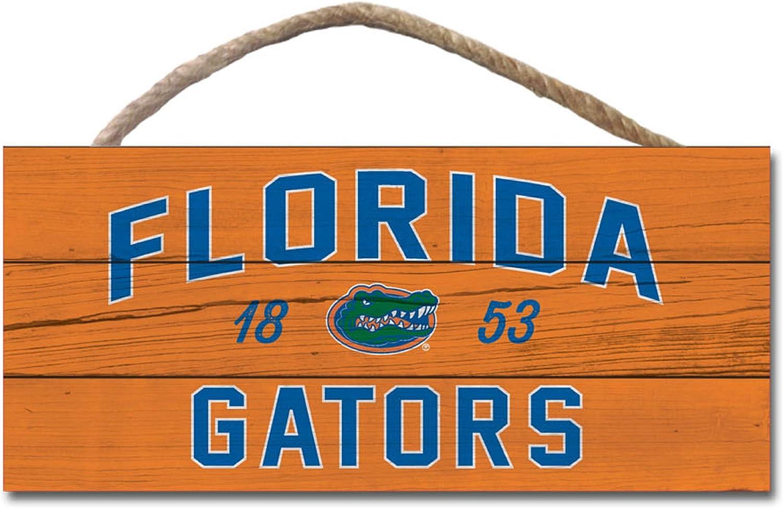 One Size Wood NCAA Legacy Florida Gators Wood Plank Hanging Sign 10x5