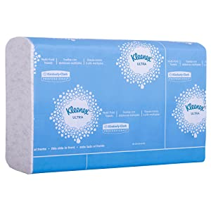 """Kleenex Reveal Multi-Fold Hand Towels (46321), 8"""" x 9.4"""", For Kleenex Reveal Countertop System Dispenser, White, 2,400 Towels / Case, 16 Packs of 150 Paper Towels"""
