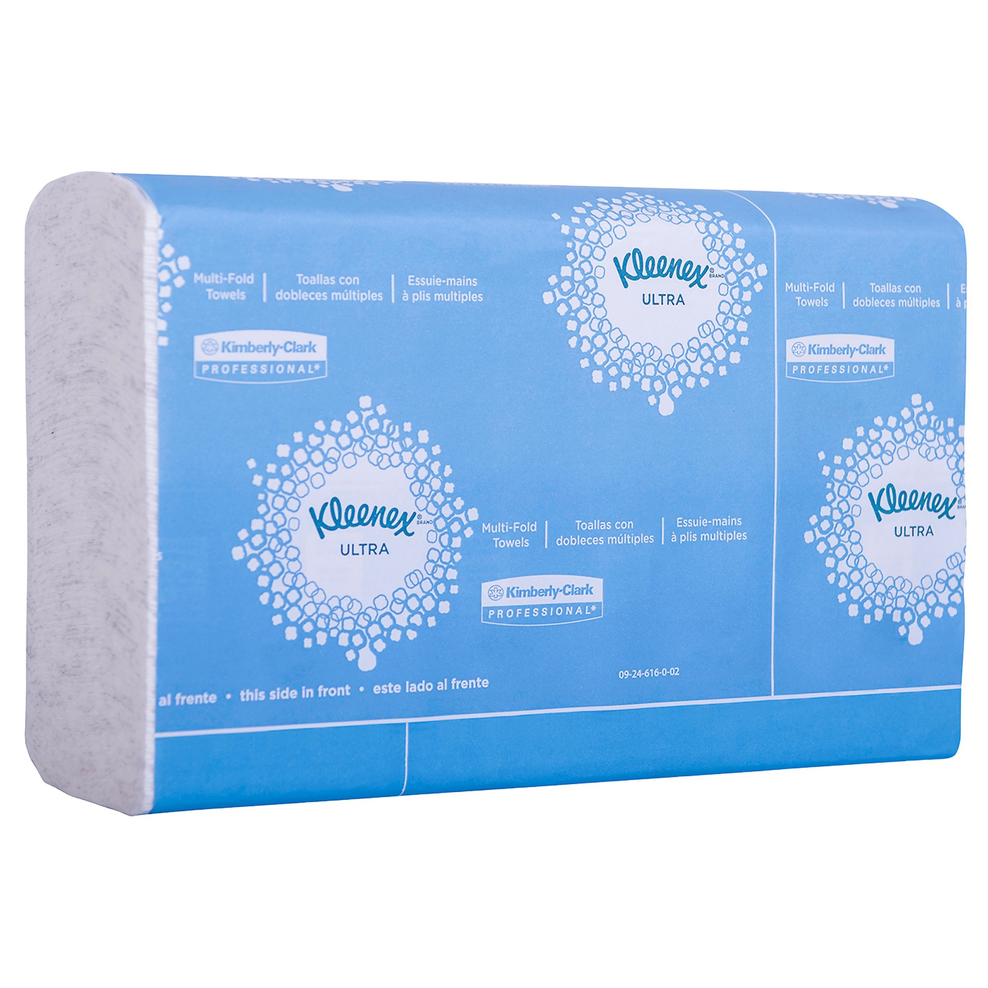 "Kleenex Reveal Multi-Fold Hand Towels (46321), 8"" x 9.4"", For Kleenex Reveal Countertop System Dispenser, White, 2,400 Towels/Case, 16 Packs of 150 Paper Towels"