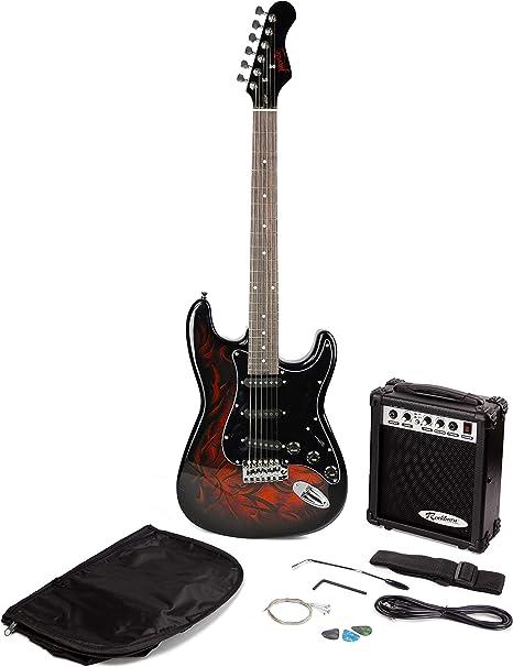 Paquete Jaxville Demonio ST Estilo de la guitarra eléctrica con ...
