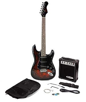 Paquete de guitarra eléctrica estilo Jaxville Demonio ST: Amazon.es: Instrumentos musicales