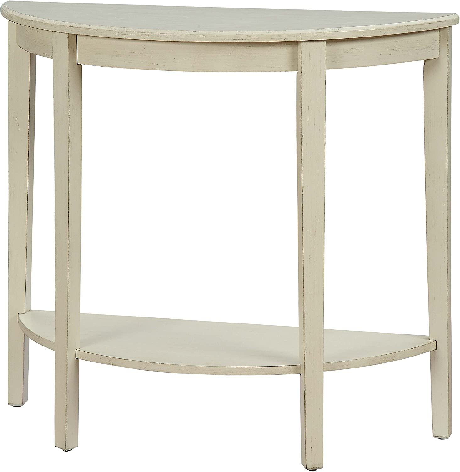 ACME Justino II Console Table - - Antique White