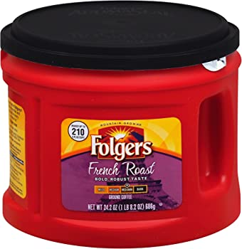Folgers French Medium Dark Roast Ground Coffee, 24.2 oz