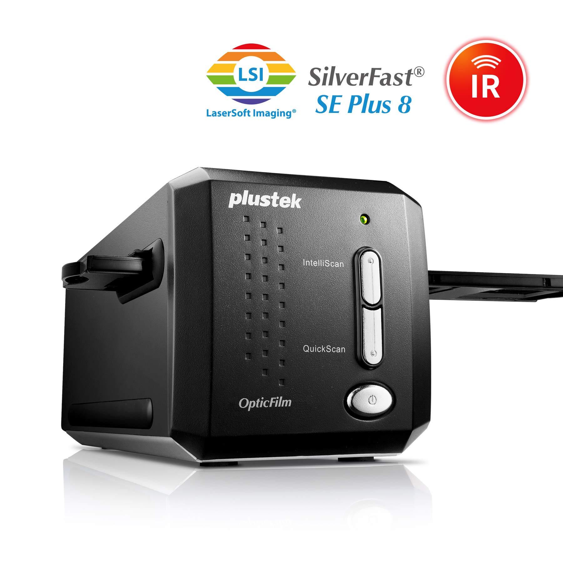 Plustek OpticFilm 8200i SE , 35mm Film & Slide Scanner. 7200 dpi / 48-bit Output. Integrated Infrared Dust/Scratch Removal. Bundle Silverfast SE Plus 8.8 , Support Mac and PC. by Plustek
