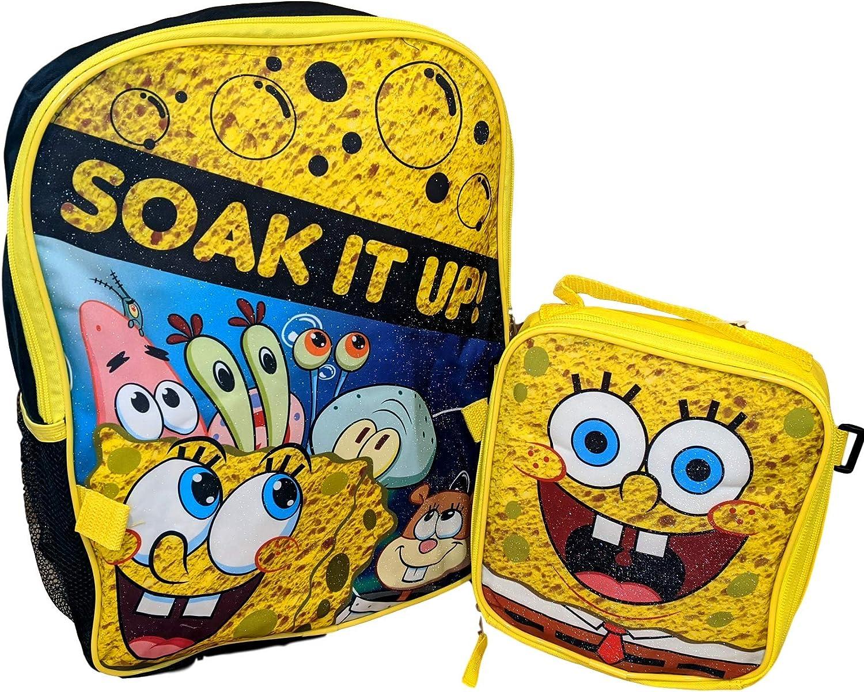 "Spongebob Squarepants 16/"" Backpack School Book Bag Tote"