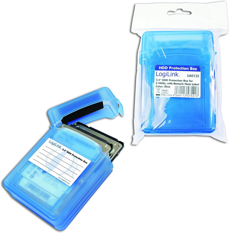 Logilink Ua0132 Festplatte Schutzhülle Für 2x 6 4 Cm Computer Zubehör
