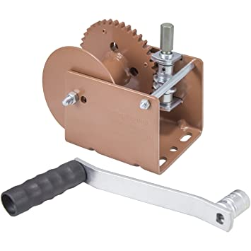 Dutton-Lainson Company (WG2000HEX) Worm Gear Winch with Hex Drive - 2000  lb  Load Capacity