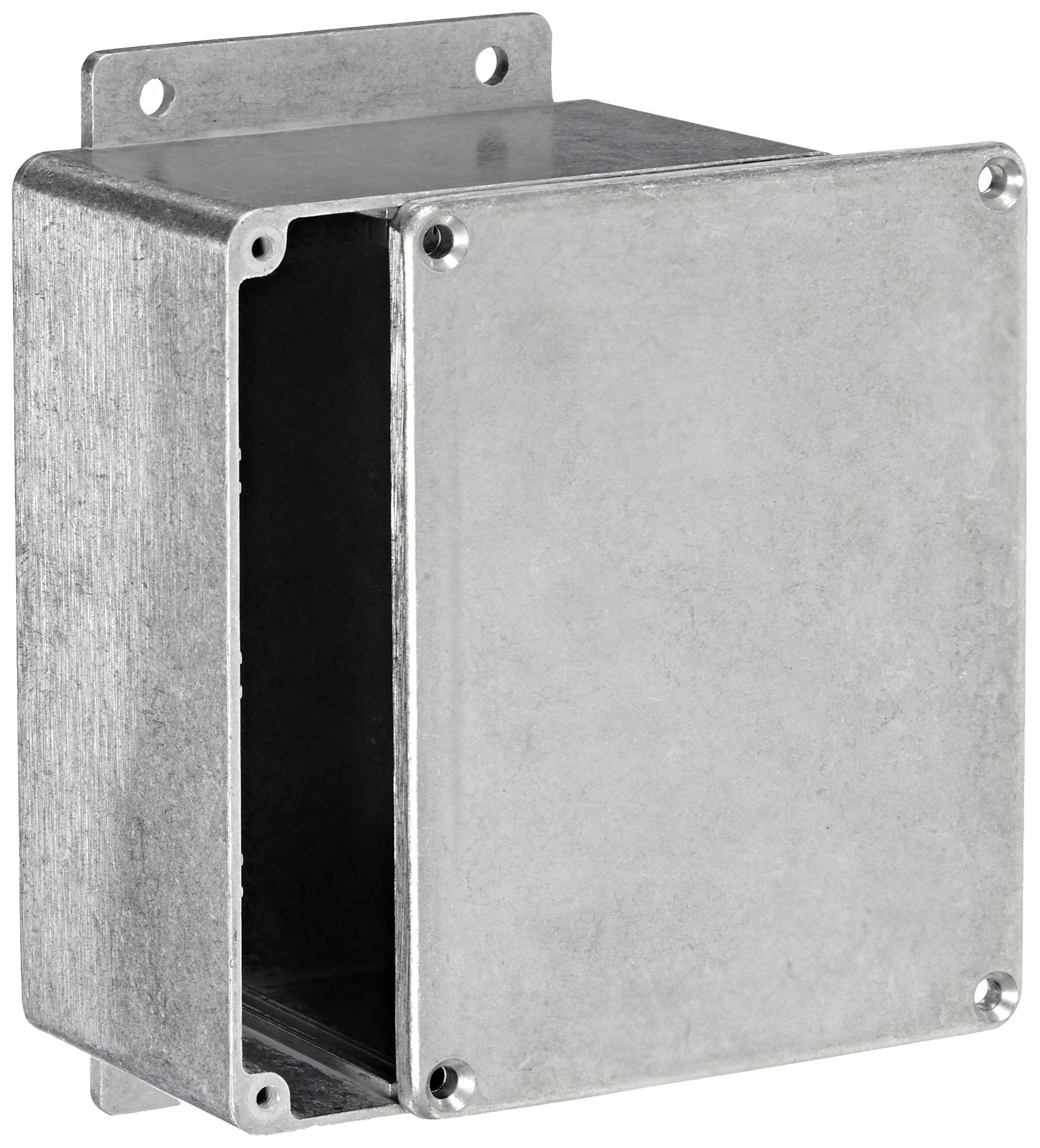 BUD Industries CN-6705 Die Cast Aluminum Enclosure with Mounting Bracket, 4-17/32'' Length x 3-9/16'' Width x 2-7/32'' Height, Natural Finish