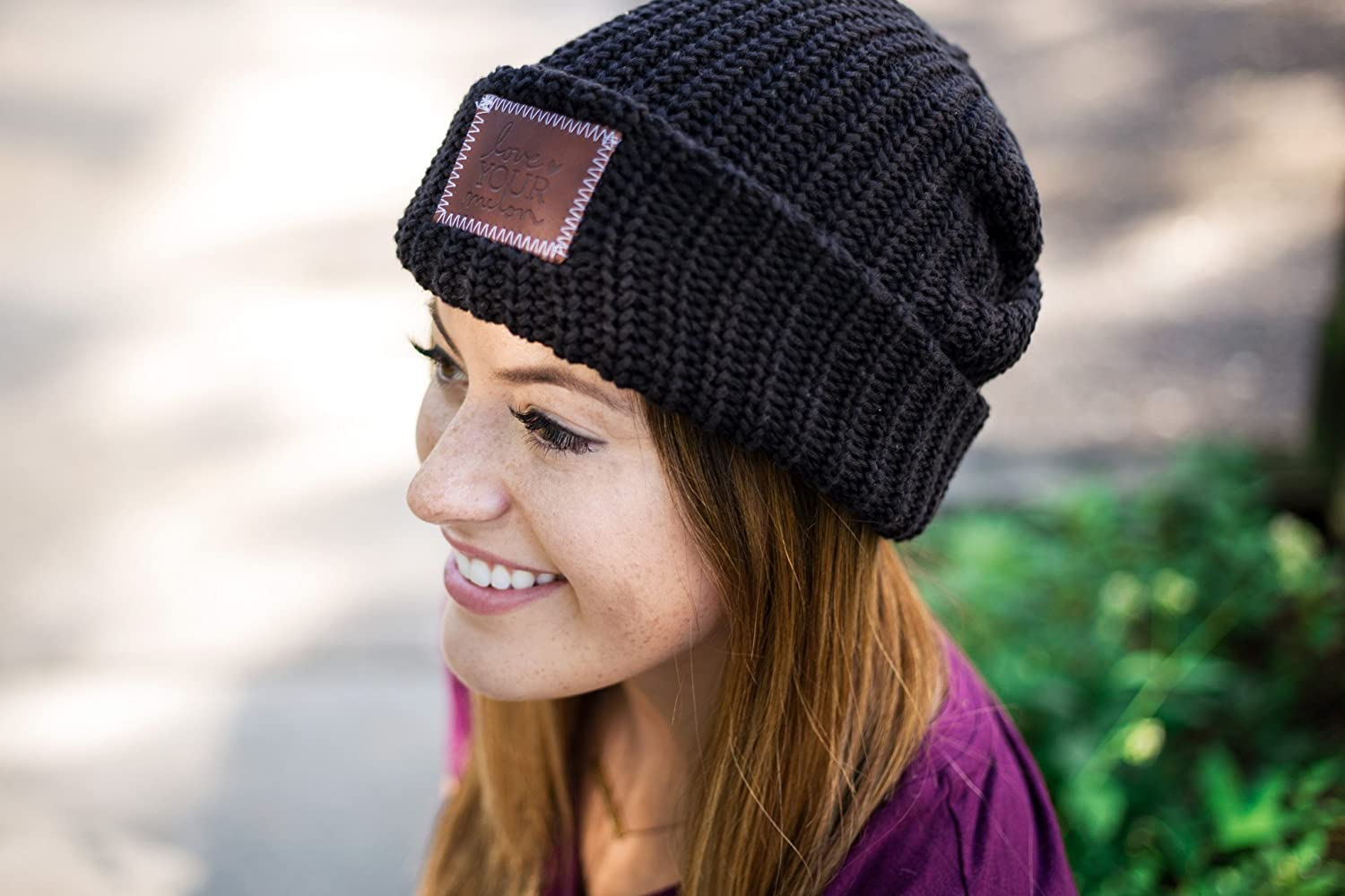 5b03fb73b1d Love Your Melon Black Cuffed Beanie at Amazon Women s Clothing store