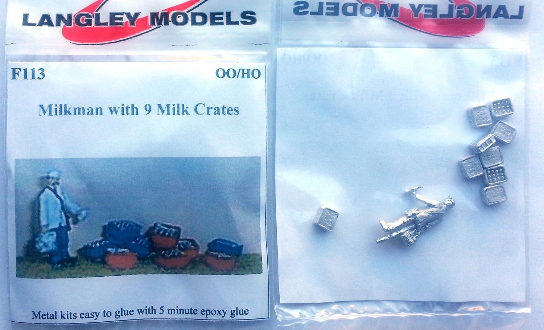 Langley Models Milkman milk crates OO Scale UNPAINTED Metal Model Kit F113