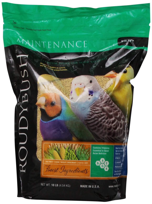 RoudyBush Daily Maintenance Bird Food, Nibles, 10-Pound by RoudyBush