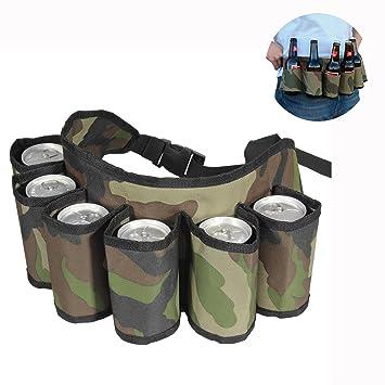 Cisixin Cerveza y Soda Funda de Cinturón?cinturón de cerveza bebida llevar (contiene 6 latas): Amazon.es: Electrónica