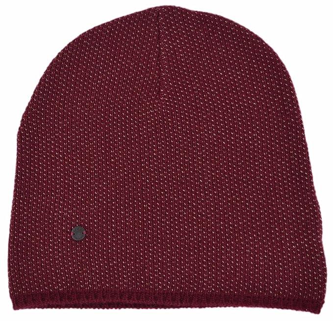 aa7a38358d2 Gucci Men s Lightweight Burgundy Beige Wool Cashmere Beanie Ski Winter Hat   Amazon.in  Clothing   Accessories