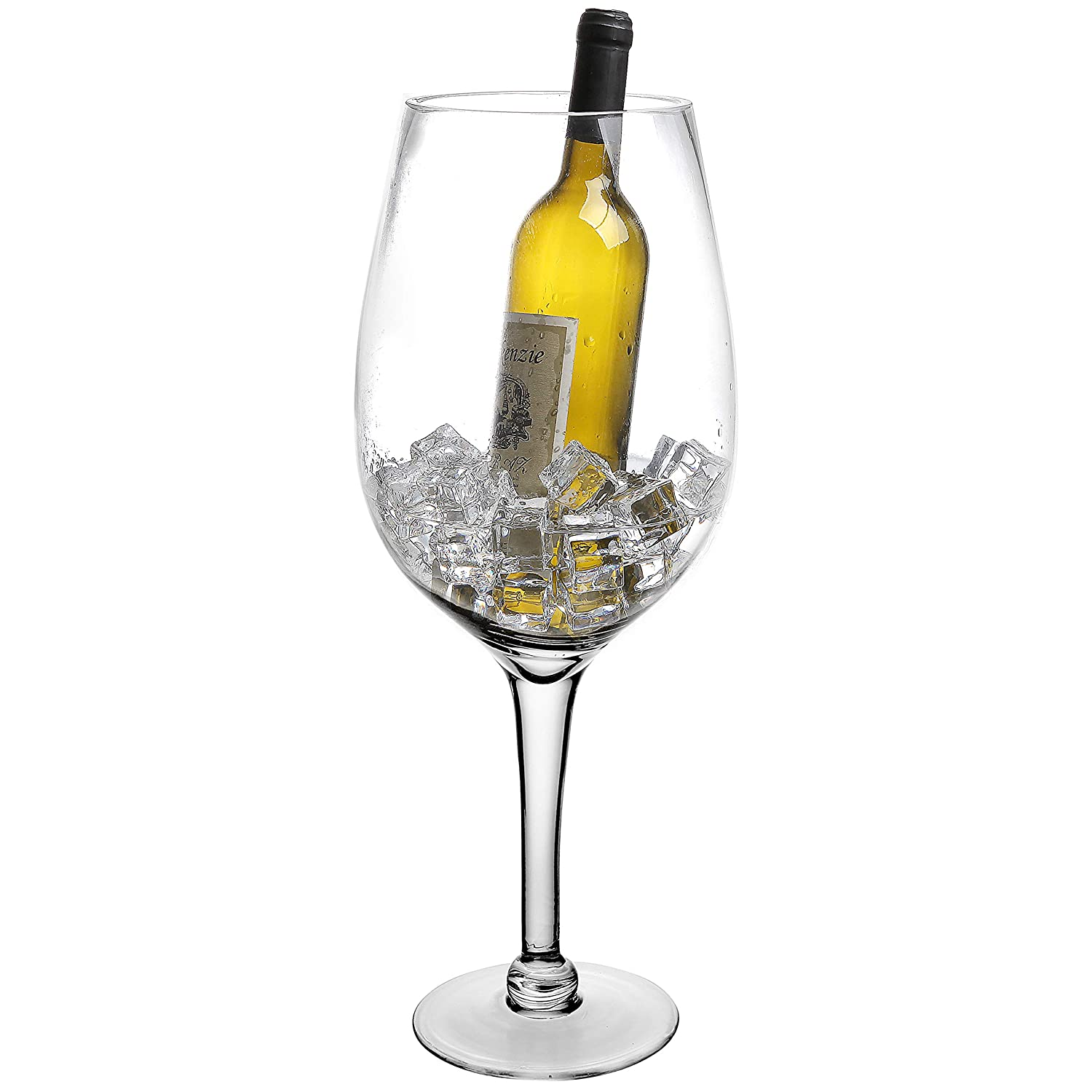 20 Inch Giant Clear Decorative Hand Blown Wine Glass Novelty Stemware/Champagne Magnum Chiller