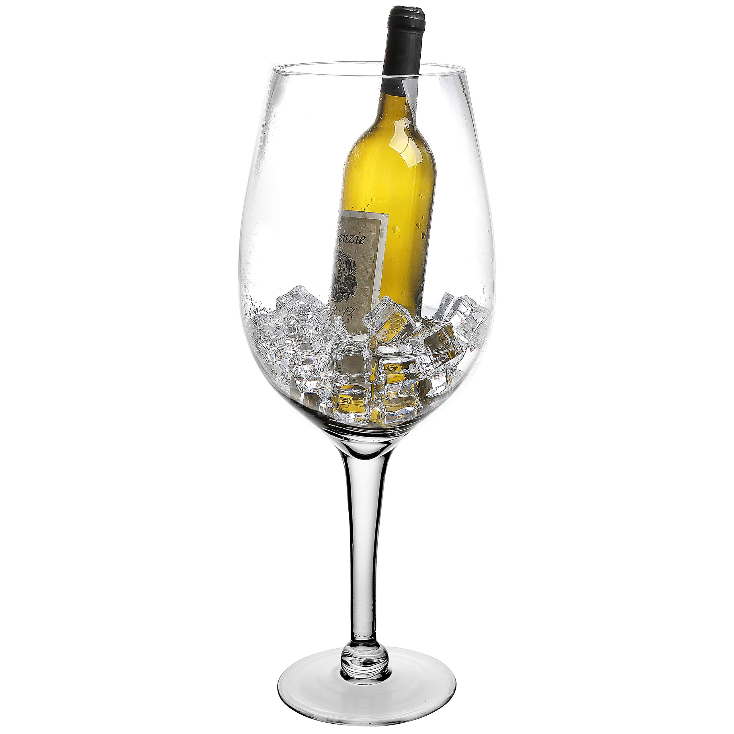 20 Inch Giant Clear Decorative Hand Blown Wine Glass Novelty Stemware/Champagne Magnum Chiller by MyGift