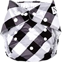 Gingham Unisex Baby Cloth Pocket Diaper 1 Pack and 1 Bamboo Insert by Nora's Nursery