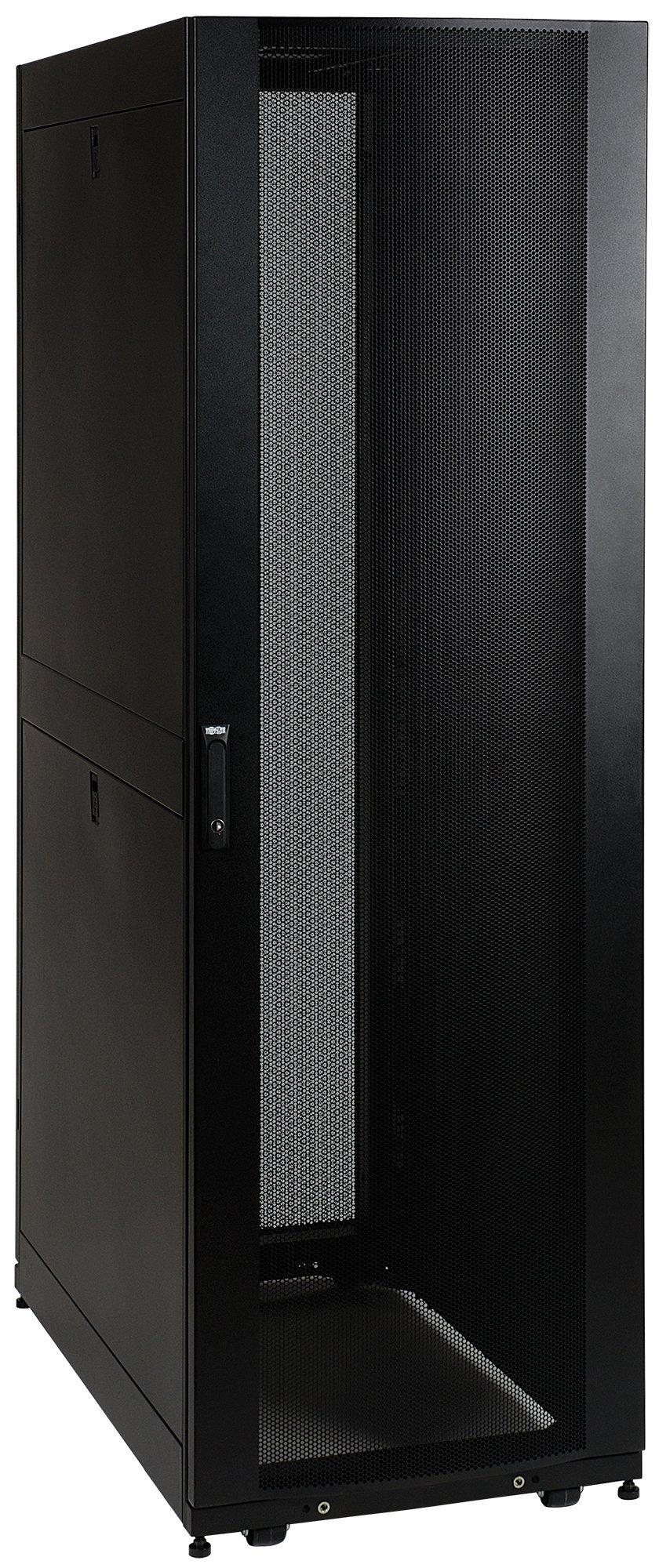 Tripp Lite SR48UB 48U Rack Enclosure Server Cabinet Doors and Sides 3000lb Capacity