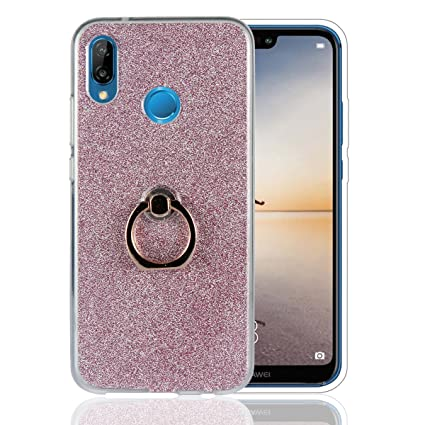 Amazon.com: for Huawei P20 Lite Glitter Case with Ring Grip ...
