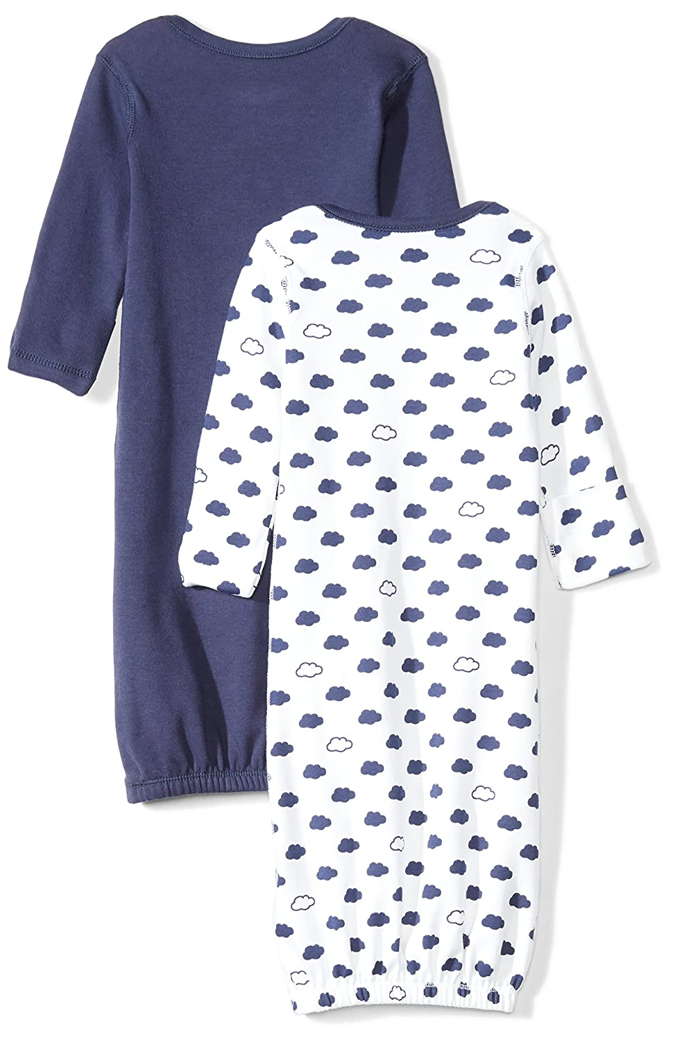 Moon and Back Baby-Girls Set of 2 Organic Sleeper Gowns