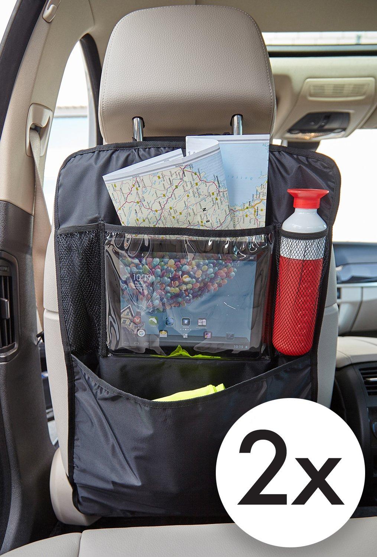 TECAROO set de 2 organisateurs de siège arrière de voiture | avec 2 ans de garantie de satisfaction | protection de siège arrière de voiture, rangement pour dossier voiture