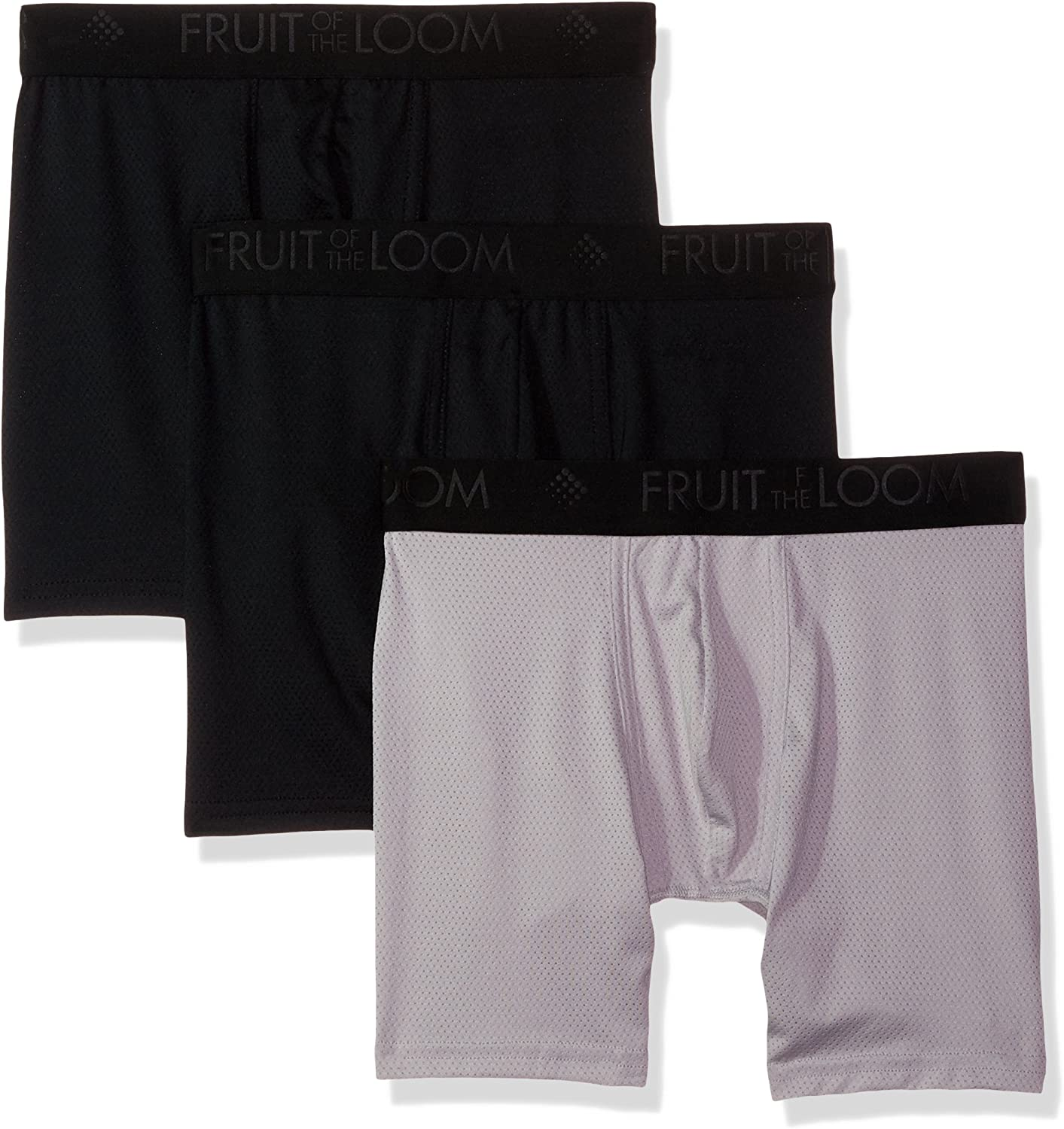 Fruit of the Loom Men's 3pk Breathable Lightweight Micro-mesh Boxer Brief