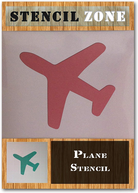 Avion Jet Aviation Mylar Aircraft Airbrush Peinture murale Art Artisanat Stencil Quatre-S