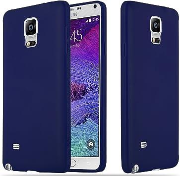 Cadorabo Funda para Samsung Galaxy Note 4 en Candy Azul Oscuro: Amazon.es: Electrónica
