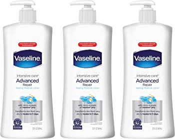 3-Pack Vaseline Intensive Care Advanced Repair Unscented Body Lotion