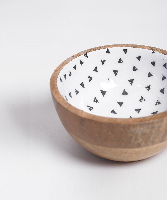 Cuenco de madera, azteca impresión, resina acabado, sin ...