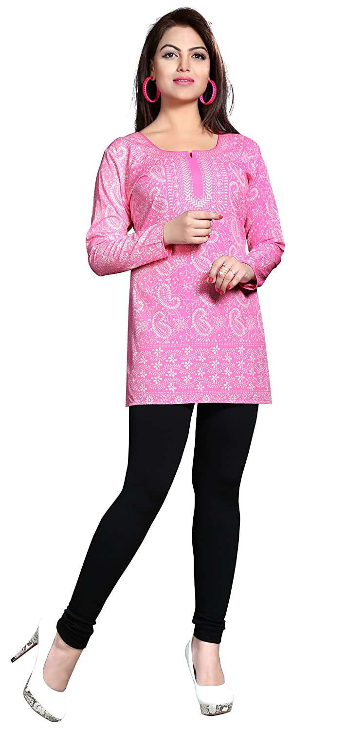 Maple Clothing Kurti Top Tunic Womens Printed Blouse Indian Clothes Event123p
