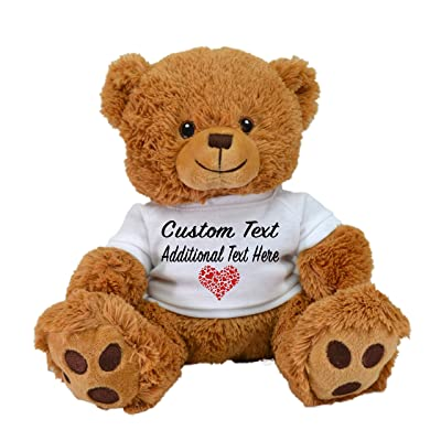 Limited Edition! Customized Plush Toys DIY Create Your Own Best Romantic Gift for Lovers St Valentine's Day by CustomizedbyBilgin (Tan Brown Bear): Toys & Games