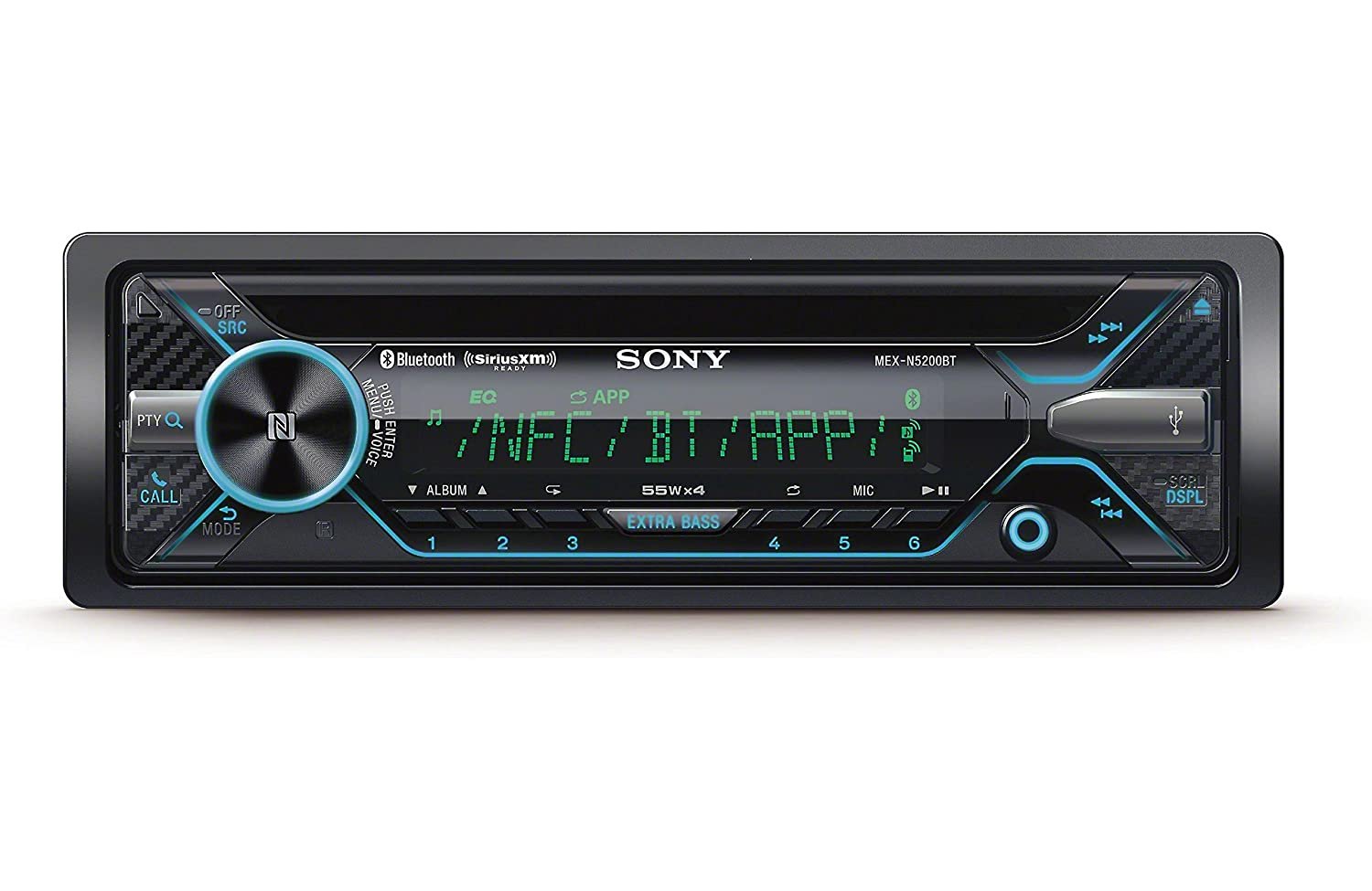 Amazon.com: Sony MEX-N5200BT CD Receiver with Bluetooth, external  microphone and SiriusXM Ready: Cell Phones & Accessories