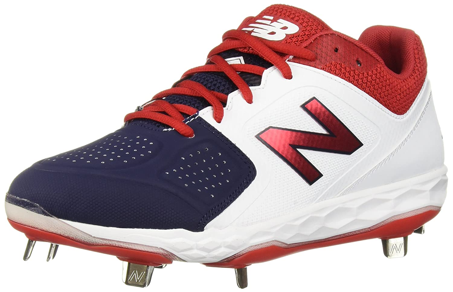 New Balance Women's Velo V1 Metal Softball Shoe B075R7BZ11 6.5 B(M) US|White/Red