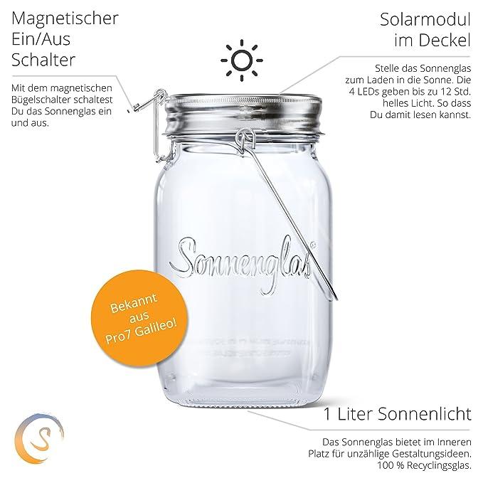 Ganz und zu Extrem SONNENGLAS® Original | Solar-Laterne im Einmachglas mit Micro-USB @JS_21