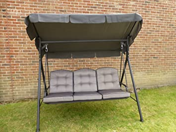 UK Gardens Quality 3 Seater Garden Swing Seat Hammock With