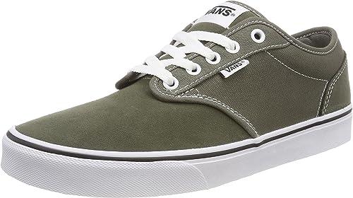 Vans Atwood low top sneakers, vintage skate shoes, in olive