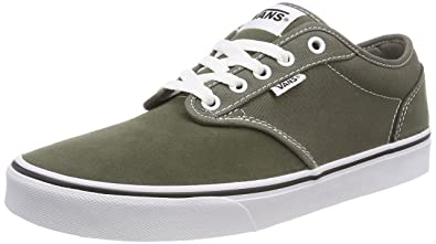 841bfb5a2312 Vans Men s Atwood Canvas Suede Low-top Sneakers Green ((Suede Canvas ...