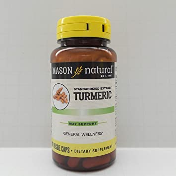 Mason natural turmeric vaggie capsules, Whole body health - 60 ea