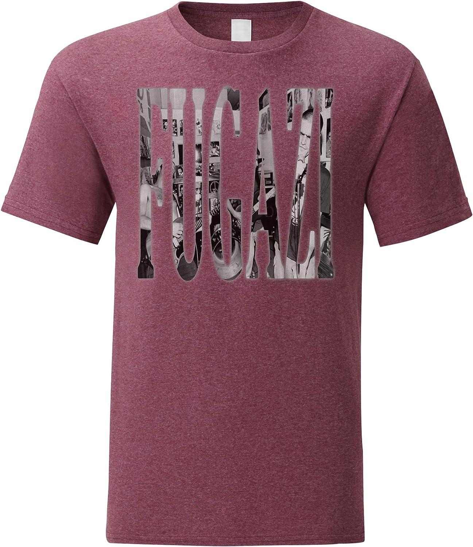 LaMAGLIERIA Camiseta Hombre Fugazi F01 - Camiseta 100% algodòn: Amazon.es: Ropa y accesorios