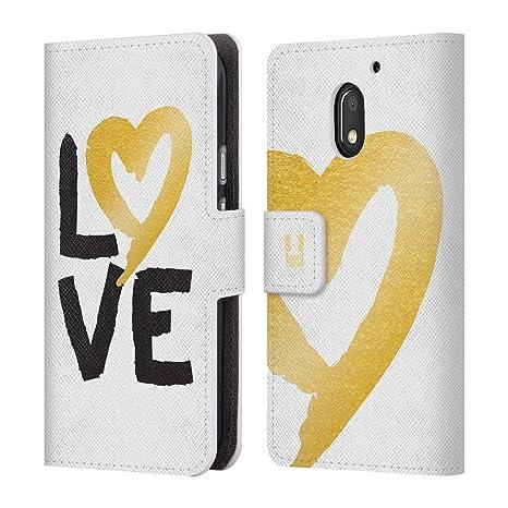 Head Case Designs Golden Cartera Funda Carcasa de piel para móviles Motorola