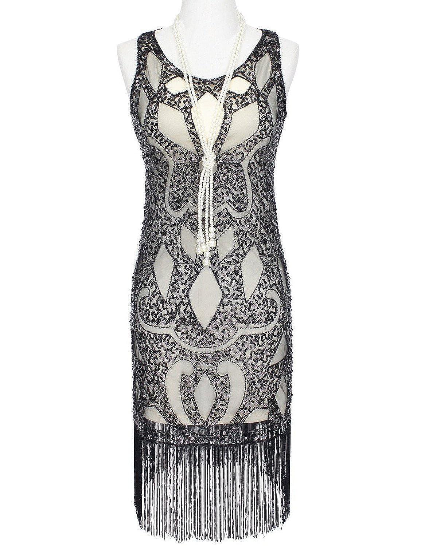 Vikoros 1920s Art Deco Great Gatsby Flapper Inspired Beaded Sequined ...