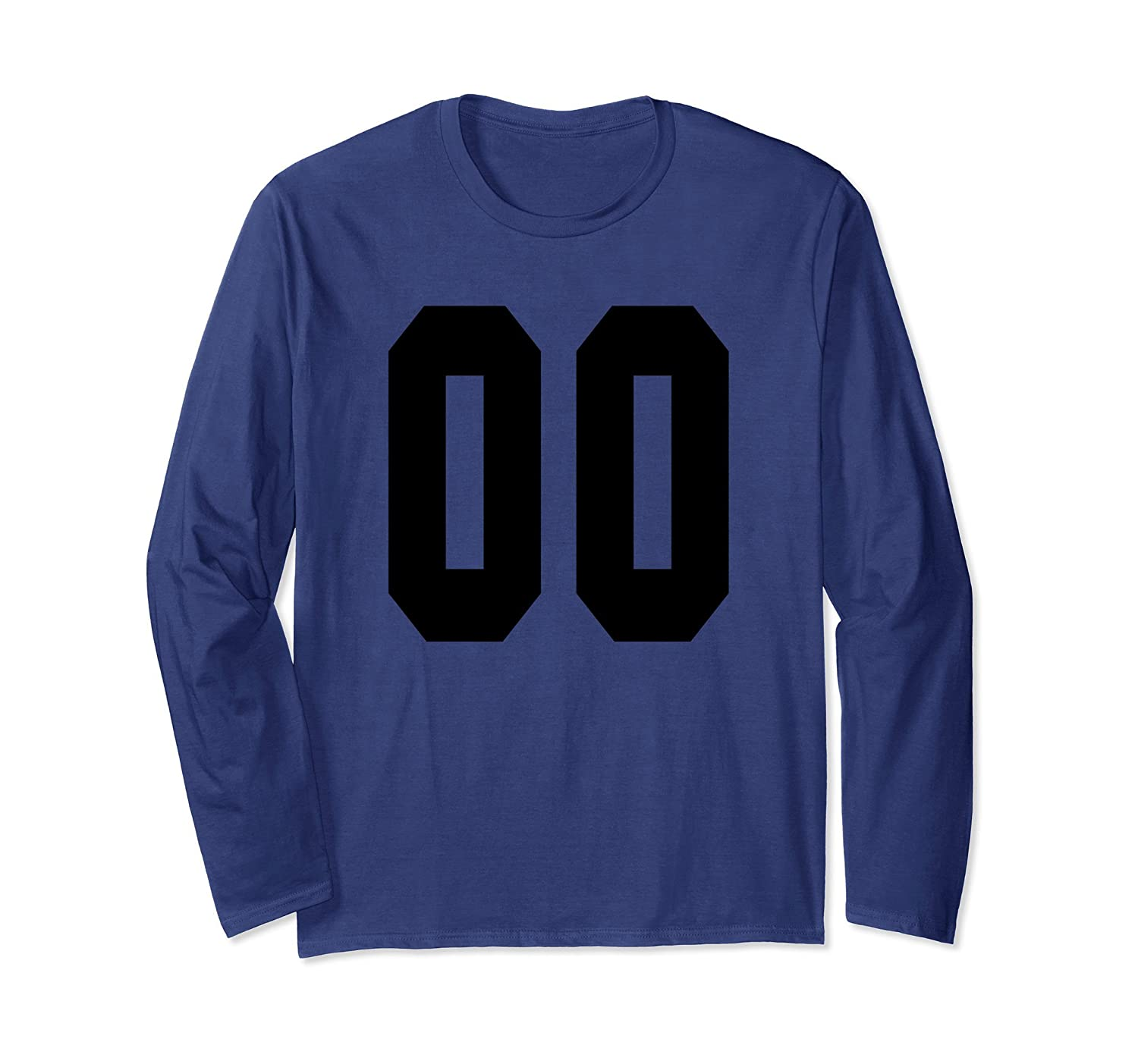 # 00 Team Sports Jersey Front & Back Number Player Fan Tee-Awarplus