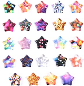 Glass Star Refrigerator Magnets (24 Pack)