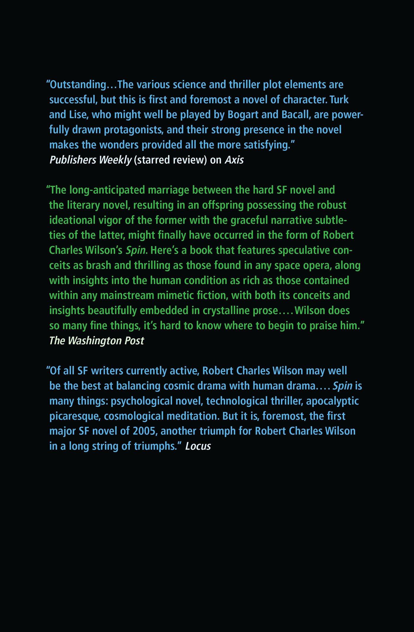 Vortex Spin Amazonde Robert Charles Wilson Fremdsprachige Bücher